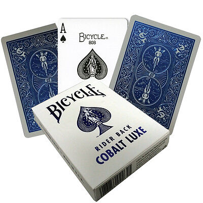 Bicycle Playing Cards COBALT LUXE - 1 BLUE Deck MetalLuxe Rider Back