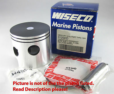 Mercury 50-150HP 3 or 6 cyl Wiseco Outboard Piston 3123P2
