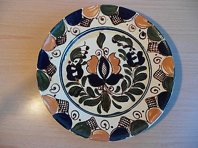 Hand Painted Terracotta Floral Design Wall Hanging Plate