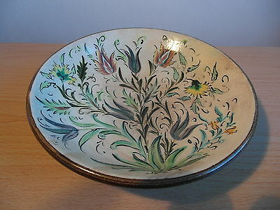A Glyn Colledge Denby  Hand Painted Pottery Bowl Signed