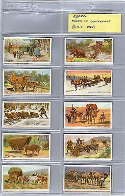cigarette cards ( reproductions ) modes of conveyance full set