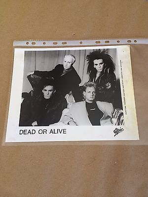 DEAD OR ALIVE Pete Burns - DOA Fan Club 1985 Official 8x10 promo photo #4