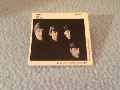Beatles Square Pin Button Pinback~Meet The Beatles sold by the Walt Disney Co.