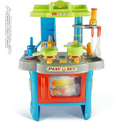 Child Kids Toddler Kitchen Role Pretend Play Cooking Toy LED Sound Kichenette
