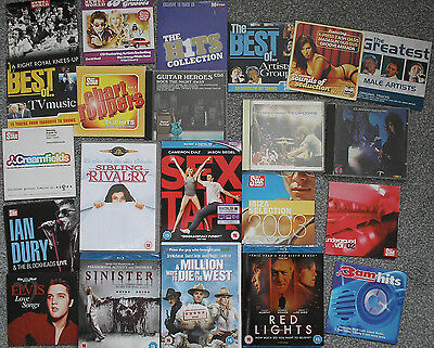 GREAT MIXED JOBLOT OF BLU-RAYS / DVDS / CDS... inc sex tape, red lights etc