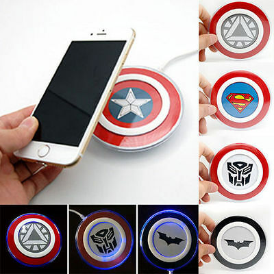 Qi Wireless Charger Charging Pad For Samsung S8 S7 S6 & Edge & iPhone 6 7 Sony