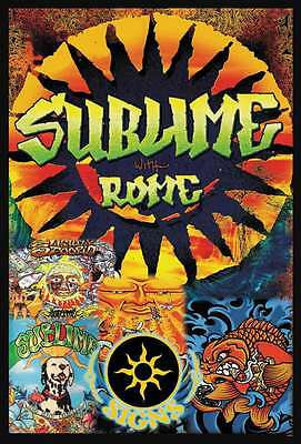 """SUBLIME WITH ROME THEPOSTER 24""""x36"""" MUSIC SKA ROCK CONCERT SIDE NEW SHEET J-4434"""