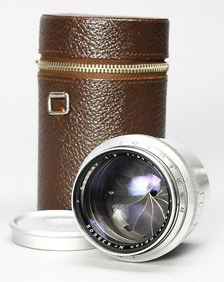Zeiss-Opton 85Mm F/2 Sonnar T Lens For Contax Rangefinder W/ Case, Caps -- Nice!