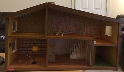 Vintage Lundby Dolls House With Fitted Lights 1970s Original Transformer