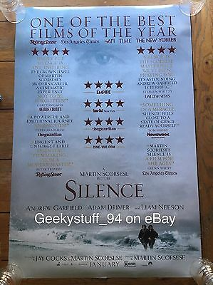 "SILENCE 27x40"" UNUSED! 2017 Original D/S 2 Sided Movie Poster Garfield Scorsese"