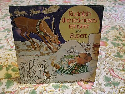 Rudolph the red nosed Reindeer and Rupert 45, single record, MFP no 37 1971
