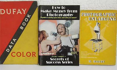 3 Vintage Photography Books