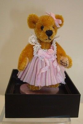 World of Miniature Bears 2in Rose Pink Dress Marie Fuertes LimEd 1000 New in Box