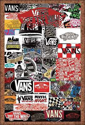 "VANS OFF THE WALL POSTER 24""x36"" ADVERTISING GRAPHIC ART SIDE NEW SHEET O-7233"