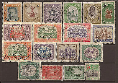 Liberia. Two Scans Of Mostly Used Stamps.