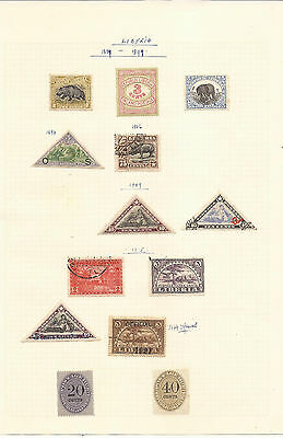 Liberia. Five Sheets Of Mint & Used Stamps.