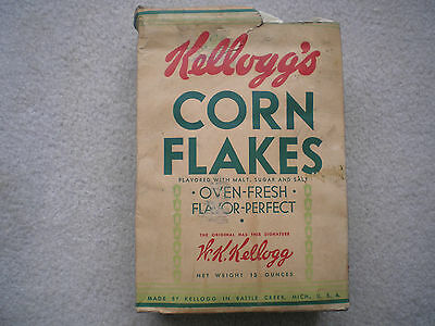 Kellogg's Corn Flakes Cereal Box 1937 Model Airplanes Premium Offer