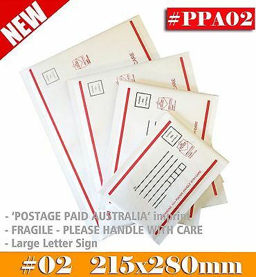 Bubble Mailer #02 215x280mm -Postage Paid Australia - Padded Bag Envelope