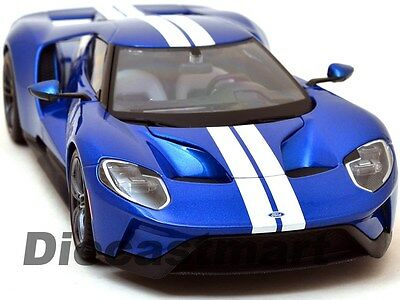 2017 Ford Gt Blue Exclusive Edition 1:18 Diecast Model Car By Maisto 38134