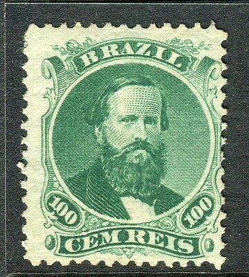 BRAZIL;   1866 Scarce early classic Dom Pedro issue Mint unused 100r. value