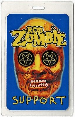 Rob Zombie authentic 2000's concert tour Laminated Backstage Pass