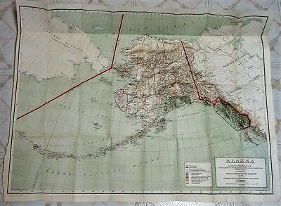 "Alaska ca. 1898 General Land Office map - scarce in great condition (26""x37"")"