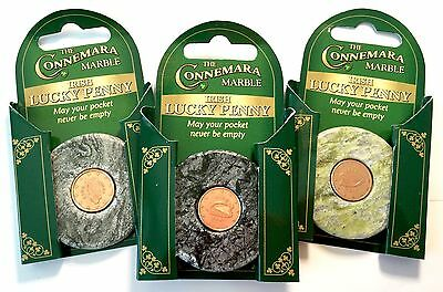 Irish Connemara Marble Lucky Penny, 3 In a Set!  New!