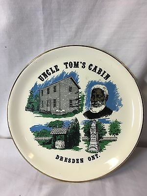 "Vintage Uncle Tom's Cabin Commemorative Plate Underground Railroad 24"" Gold"