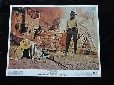 ONCE UPON A TIME IN THE WEST lobby card # 1 - SERGIO LEONE, HENRY FONDA