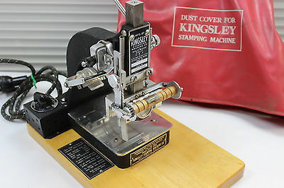 Kingsley hot stamping machine M-60 Monogramming Auto Foil Feed 2-line Embossing