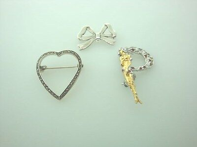 Sterling Silver Pins 3 total