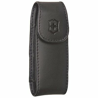 Swiss Army Black Large Leather Clip Pouch 33256 *NEW*