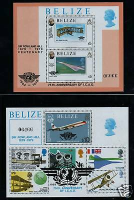 Belize 1979 Rowland Hill MS x 2 SG 513 MNH