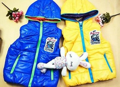 new arrival Fashion 2 colors solid waterproof children vest Clearance sale