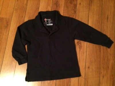 Kids Uniform Navy Blue Long Sleeve Shirt Size 3