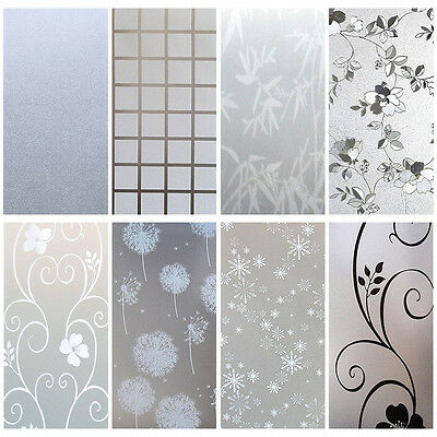 Waterproof Frosted Window Film Frost Glass Home Door Privacy Sticky PVC 90x200cm