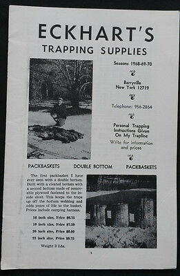 Vintage  1968-69-70 Eckhart's Trapping Supplies Animal Lure Catalog
