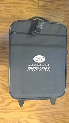 Creative Memories Rolling Suitcase Luggage Navy Blue  or Scrapbook Tote
