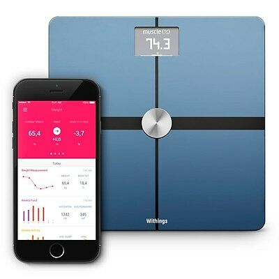 Withings Body Composition Wi-Fi Scale Black NEW - FREE PRIORITY SHIPPING