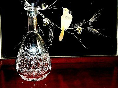 Outstanding Vintage Hand Cut Crystal  Footed Decanter / Carafe .