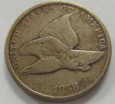 1858 Flying Eagle Cent Small Letters Variety * Old US Penny
