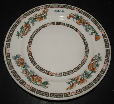 """PULLMAN Co. Railroad Dining Car China 7 1/2"""" Indian Tree Pattern Plate"""