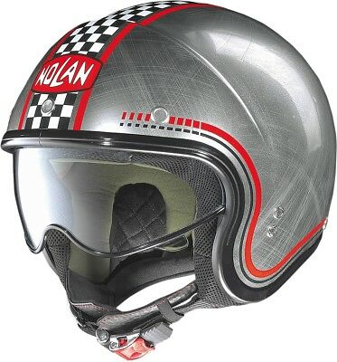 Nolan N-21 Lario Chrome Helmet Lg Scratched Chrome/Red N2N5273430041