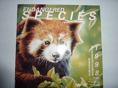 1998 United Nations Endangered Species collection themed issue stamps