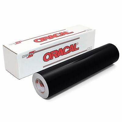 ORACAL 651 Outdoor Permanent Vinyl - BLACK 12in x 10ft Roll
