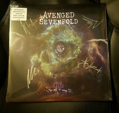 Sold Out! AVENGED SEVENFOLD The Stage Signed Autographed Vinyl by all! Sealed