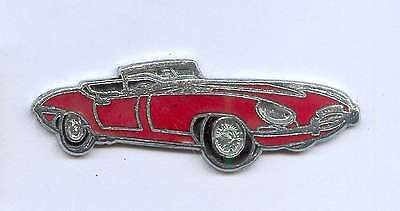 pin badge auto car cabriolet jaguar decapotable red E-Type v12 convertible xk E