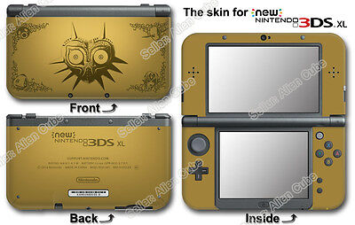 Legend of Zelda Majora's Mask Limited Edition  SKIN STICKER DECAL for NEW 3DS XL