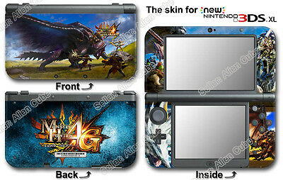 Monster Hunter 4 Ultimate Cool Skin Sticker Decal #1 for NEW Nintendo 3DS XL