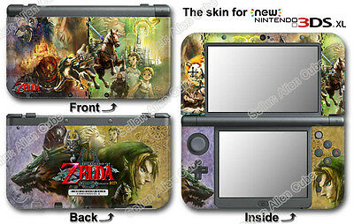 The Legend of Zelda Twilight Princess Skin Sticker Decal Cover for NEW 3DS XL